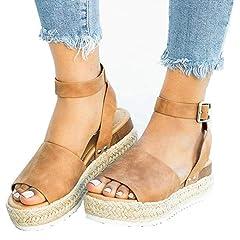 3ac76f1bc4f0 Womens Open Toe Espadrille Ankle Strap Boho Lace Up Rivet Fla .