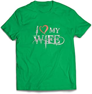 lepni.me Camisetas Hombre Amo a Mi Esposa - Trajes Familiares, Papá, Cumpleaños