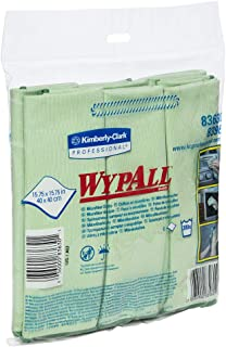 WYPALL Microfibre Cloths, Green, 6 Cloths/Pack, Case of 4 Packs
