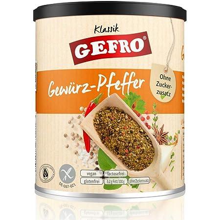 Gefro Gewürz Pfeffer Zum Würzen Verfeinern Von Rohkost Salat Fleisch Fisch 180g Amazon De Lebensmittel Getränke