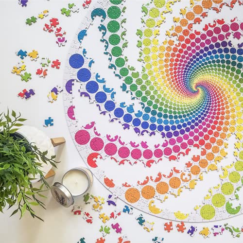 """COLOR TREE DESIGN 1000 Piece Puzzle - """"Rainbow Vortex"""" is a Round Puzzle That is Colorful & Vibrant - One of The Best Jigsaw Puzzles for Adults - 1000 Piece Puzzles for Adults are Fun & Exciting"""