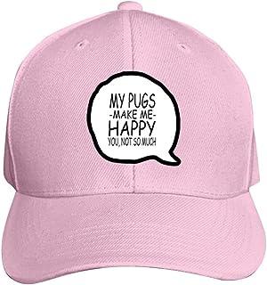 Brniogn Unisex 3D Printed Baseball Cap My Dog Make Me Happy You Not So Much Adjustable Trucker Caps