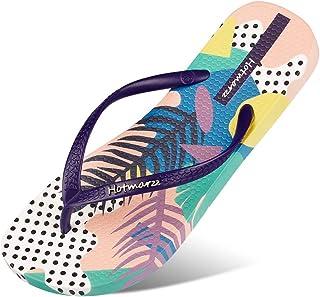Women's Flip Flops Bohemia Floral Print Sandals Beach Slippers