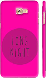 Colorpur Long Night On Pink Printed Back Case Cover for Samsung C9 Pro