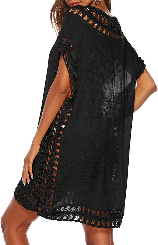 Adisputent Womens Swimsuits Cover Ups Crochet Chiffon Beach Cover Bathing Suit Bikini Wear Coverups Dress