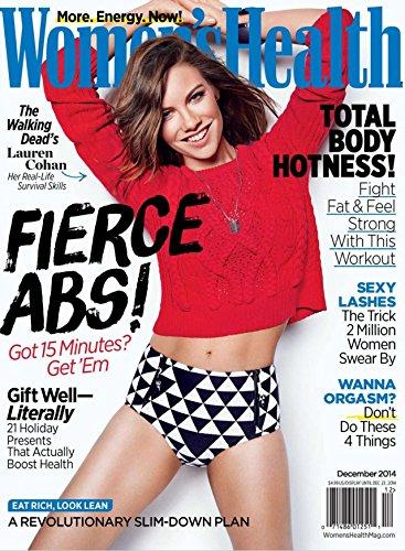 Women's Health Magazine (December, 2014) The Walking Dead's Lauren Cohan on Cover