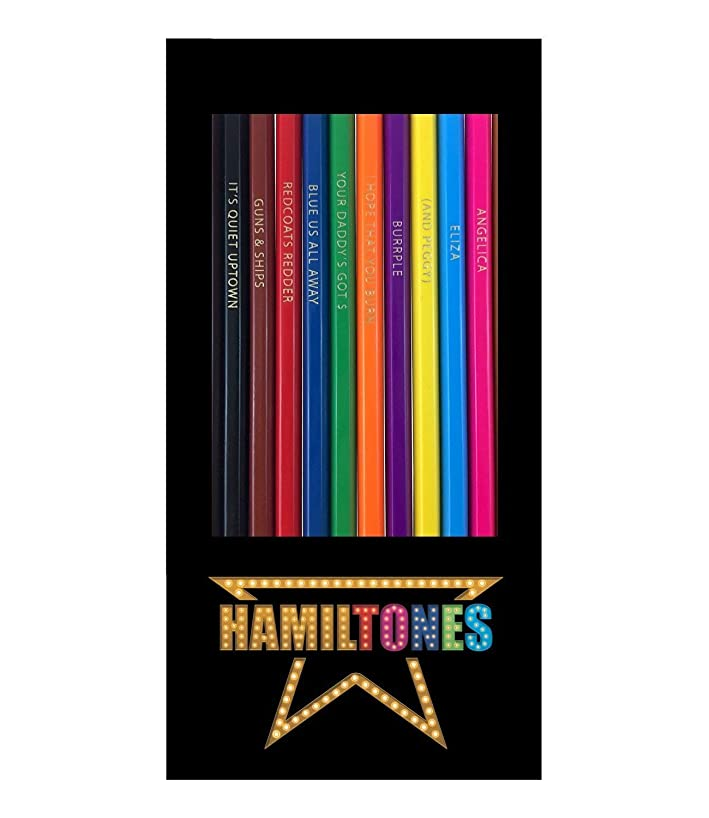 Hamiltones Colored Pencils Set - 12 Hamilton Musical Parody Pencils