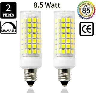 E11 LED Light Bulb 8.5W, 70W or 100W 110V/120v/130v Halogen Bulbs Equivalent Mini Candelabra jd E11 Base T3/T4 LED Bulb dimmable for Ceiling Fan, Indoor Lighting-2packs (Daylight White 6000K)