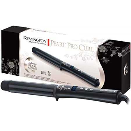 Remington CI9532 Pearl - Rizador de pelo, Barril de 32 mm, Cerámica con Perla, Punta Fría, Digital, Negro