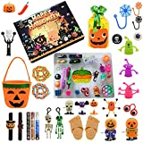 Eeauytr Calendario de Adviento de Halloween, caja ciega, calendario de Adviento 2021, cajas de regalo para niños y adultos