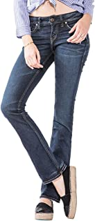 Silver Jeans Co. Women's Elyse Relaxed Mid-Rise Slim Bootcut