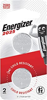 Energizer Lithium Coin CR2025BS2 (Packaging may vary), 2ct