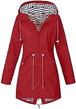 ZEFOTIM Women's Raincoats,Windbreaker Rain Jacket Waterproof Hooded Outdoor Trench Coats