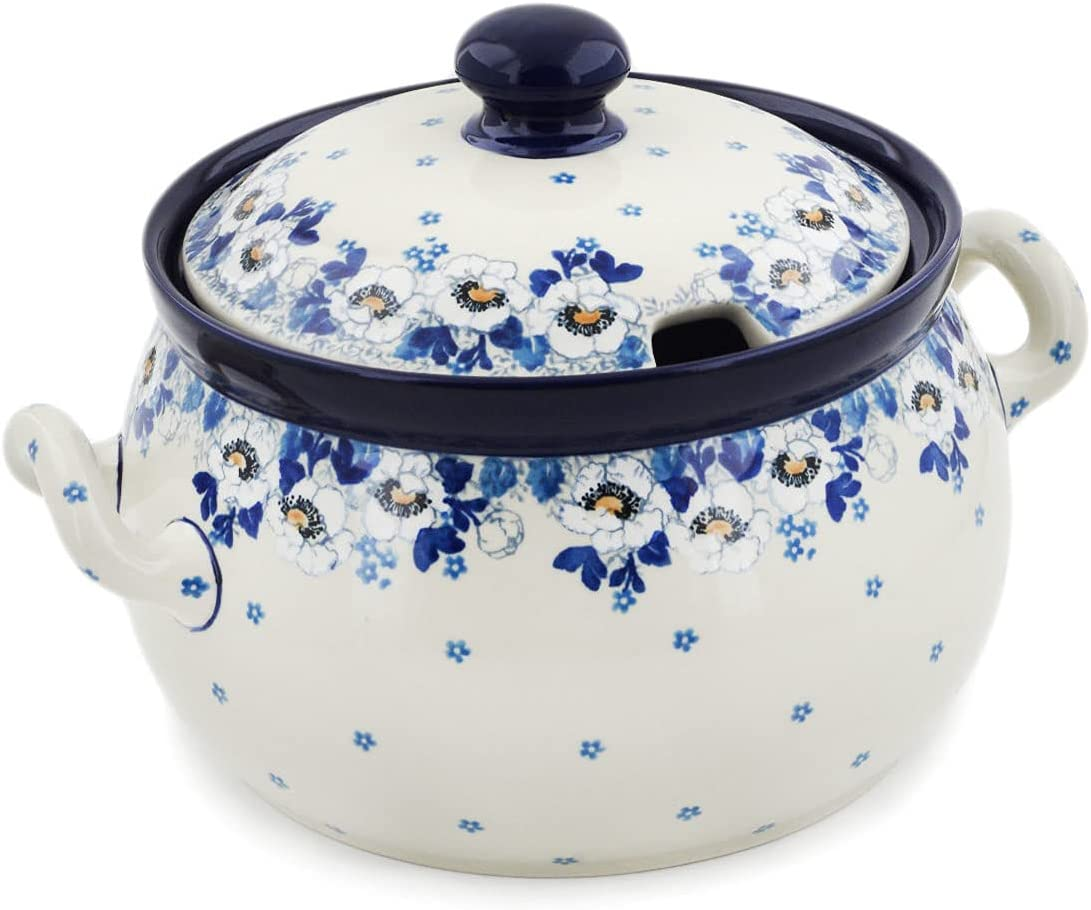 Polish Pottery Ranking TOP2 121 oz Tureen by Blue made Artystyczna Ceramika Large discharge sale