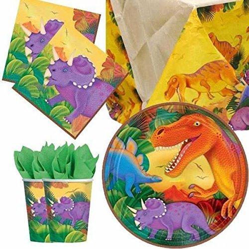 Dinosaures couverts de fête lot pour 8 personnes