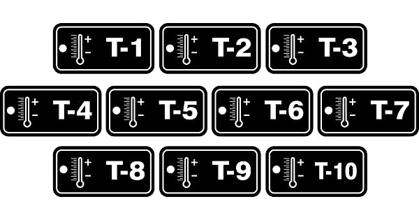 1 to 10 Series Accuform TDF820VPR PlasticThermal Energy Source Standard Tag White on Black Pack of 10 1-1//2 W x 3 L
