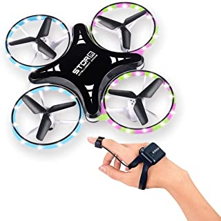 RC Drone for Kid and Beginners, Mini Drones with LED Lights, 2.4G Gravity Sensor Hand Controlled Helicopter, Steady Hold H...