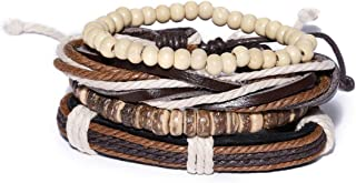 Unknown By Ayesha  Men's Set Of Brown Wonderland Beaded Bracelet