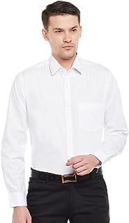 Lamode Men's Solid White Formal Shirt