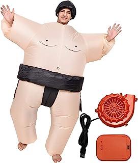 Entregando amor e paz 力士 衣装+帽子+送風機 3点セット インフレータブル 全身コスチューム 適正身長150-190cm 防水素材 空気で膨らむ仕様 お相撲さん