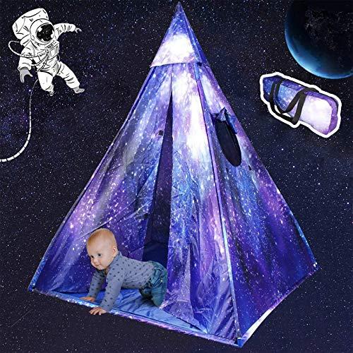 KIKILIVE Zelt für Kinder, Spielzelt,kinderzelt für drinnen und Outdoor,Tragbares Kinder Spielzelte mit Tragetasche,Sternenklarer Himmel Zelt Geschenk für Kinder,klassisches Spielzelt Zelt für Kinder