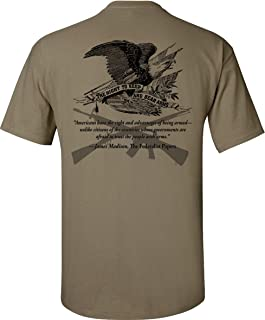 Gadsden and Culpeper Right to Bear Arms T-Shirt - Coyote Tan