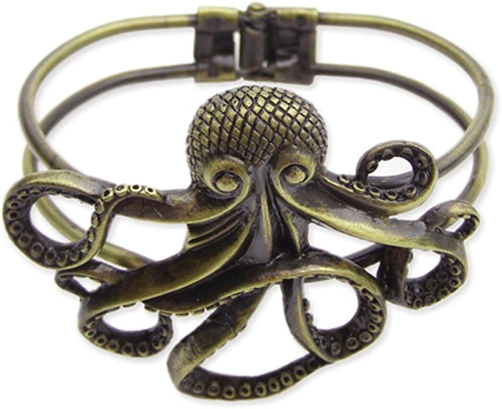 Zad Jewelry Antique Gold Metal Octopus Bracelet
