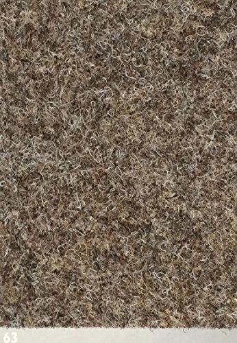 Nadelfilz-Teppich in der Farbe beige-braun | Nadelvlies-Auslegeware in der Breite 2m x Länge 0,5m | Filz-Bodenbelag als Meterware erhältlich | robust & rutschfest, Beanspruchungsklasse (BK33)