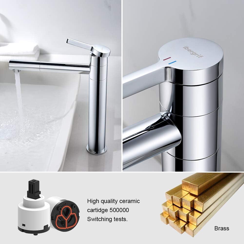 IBERGRIF Wasserhahn Bad Hoch  Waschtischarmatur Armatur mit Hoher ...