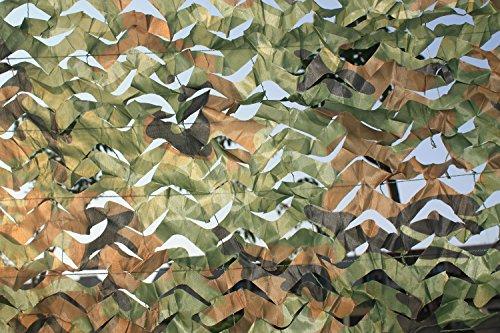 DETECH Camo Netting Camouflage Net Jalousien Tarnnetz 3x6M / 10x20ft für Sonnenschirm Camping Schießen Jagd CS etc.