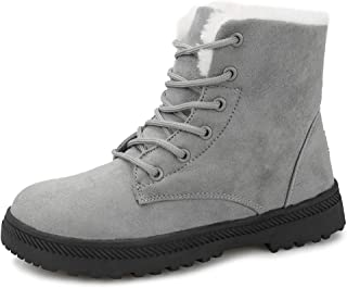 Winter Snow Boots for Women Suede Cotton Warm Fur Lined...