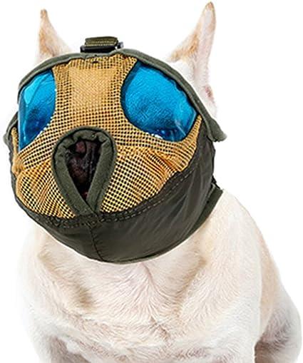 Comfortable Blue S Soft Sytaun Adjustable Cute Pig Nose Anti-Bite Anti-Bark Small Dog Pet Muzzle Mouth Pig Nose Design