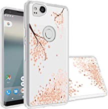 Google Pixel 2 Case,Topnow [Anti-Scratch PC + Shockproof Anti-Drop Soft TPU] Advanced Printing Pattern Phone Cases Glossy Drawing Design Cover for Google Pixel 2(Falling Plum)