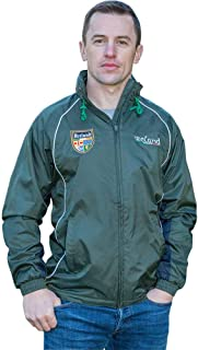 Irish Rain Jacket, Full Zip, Embroidered Irish Crest, Green