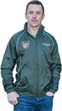 Irish Rain Jacket, Full Zip, Embroidered Irish Crest, Green