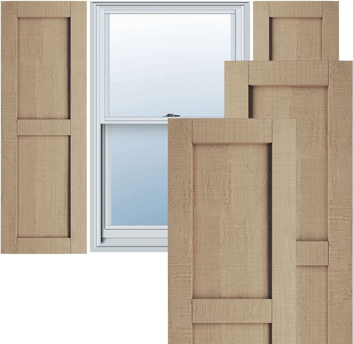 Ekena Millwork SHULVRC Faux Wood Pair Two Shutters Rustic Per Special Campaign Cheap mail order specialty store