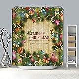 lxianghao Shower Curtain Tejido De Poliéster Navidad con Ganchos para Cortinas Cortinas Baratas 100 X 180 Cm