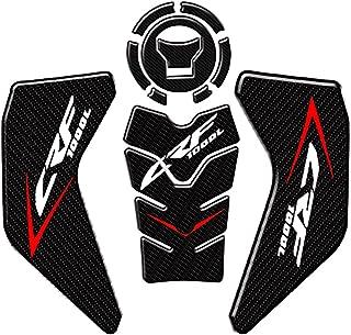 Motocicleta Fibra de Carbono Almofada de Tanque de Óleo de Gás Protetor Adesivo de Osso de Peixe Apertos no Joelho Tração ...