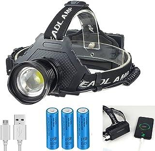 ヘッドライトXHP70 改善版 LEDヘッドランプ1000ルーメン 最新超高輝度 内蔵PSE認証18650*3本充電式バッテリー 電池6000mAh 5モード20時間点灯 電池残量ランプ搭載 調整可能 防災 登山 夜釣り作業 長時間型