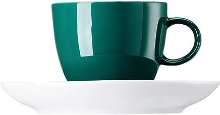 Preisvergleich für Rosenthal-Thomas 10850-408544-14720 Sunny Day Seaside Green Espr-/Mokkatasse 2 tlg.
