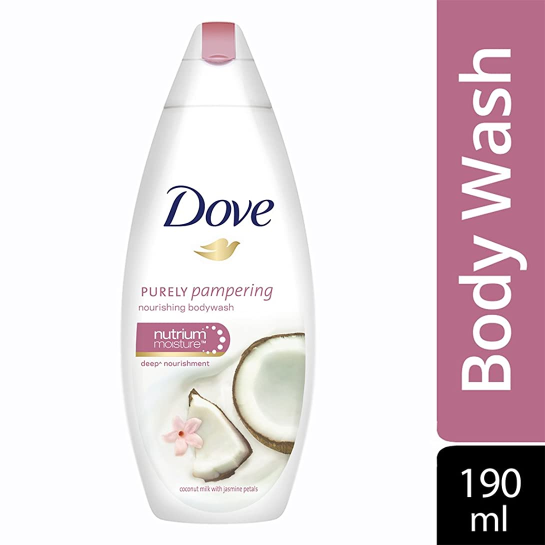 コーナーポータル鳥Dove Purely Pampering Coconut Milk and Jas Petals Body Wash, 190ml