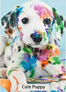 Holly LifePro DIY 5D Diamond Painting Kits for Adults, Full Drill Colorful Puppy Crystal Rhinestone Embroidery Pictures Ar...