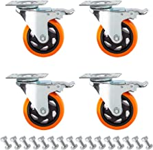 Best 4 casters with brakes Reviews