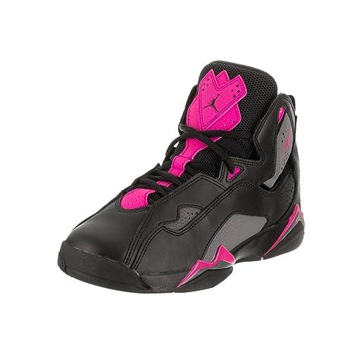 6e02cfa1797 Nike Jordan Kids Jordan True Flight GG Black Dark Grey Deadly Pink