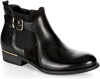 XAPPEAL Womens Faux Leather Croc Print Ankle Boot Shoes