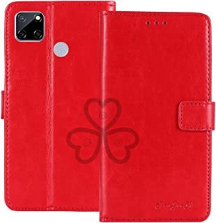 TienJueShi Red Book Stand Retro Flip Leather Protector Phone TPU Silicone Case For Oppo A15s 6.52 inch Gel Cover Etui Wallet