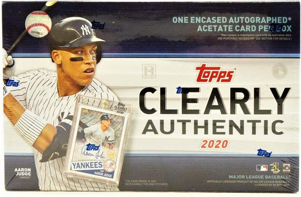 2020 Topps Clearly Authentic Baseball Outstanding Pack 1 Auto Hobby Box Outlet SALE