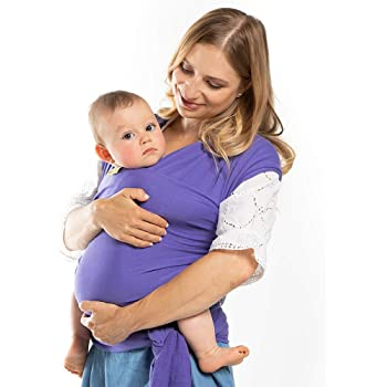 Boba Baby Wrap Purple - The Original Child and Newborn Wrap, Perfect for Infants and Babies Up to 35 lbs