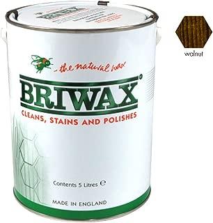 ブライワックス[BRIWAX]オリジナルワックス (ウォールナット色)5L