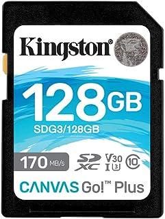 Kingston 128GB SDXC Canvas Go Plus 170MB/s lezen UHS-I, C10, U3, V30 Geheugenkaart (SDG3/128GBET)